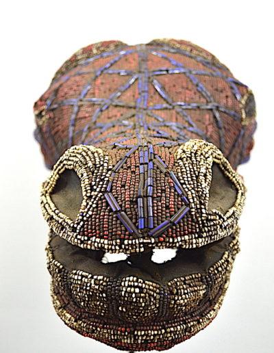 Bamileke Beaded buffalo mask 1376-003