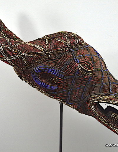Bamileke Beaded buffalo mask 1376-005