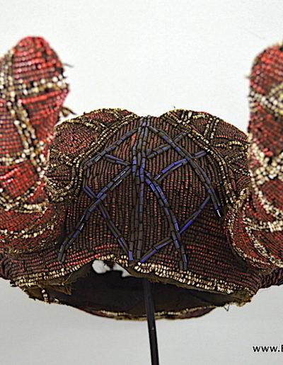 Bamileke Beaded buffalo mask 1376-007