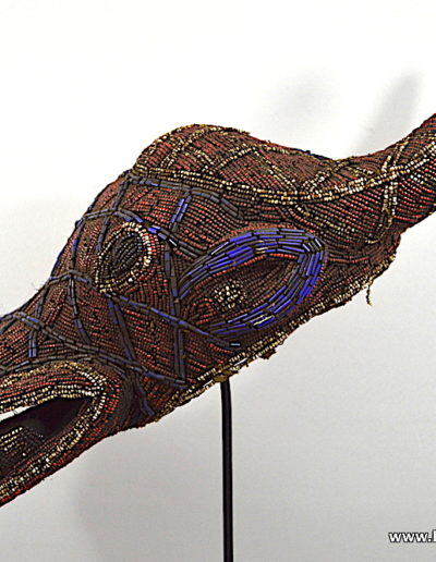 Bamileke Beaded buffalo mask 1376-010