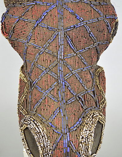 Bamileke Beaded buffalo mask 1376-011