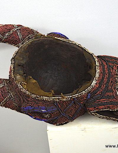 Bamileke Beaded buffalo mask 1376-018