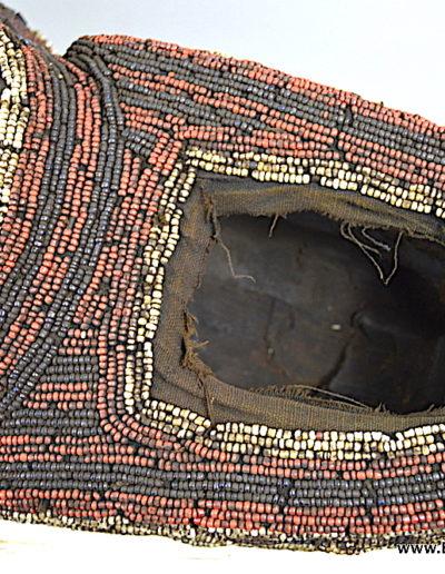 Bamileke Beaded buffalo mask 1376-019