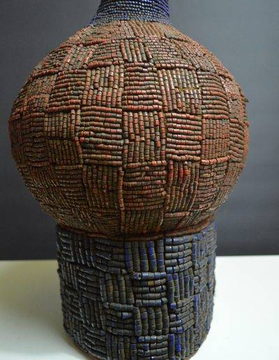 Bamileke Beaded Palm Wine Vessel knpc_0015
