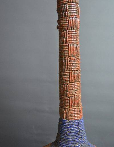 Bamileke Beaded Palm Wine Vessel knpc_0020