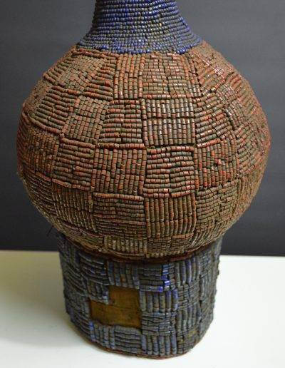 Bamileke Beaded Palm Wine Vessel knpc_0021