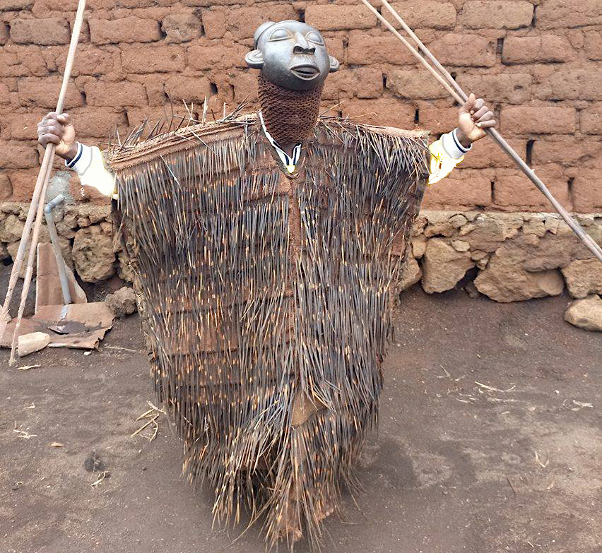 Bamileke Porcupine Quill Costume